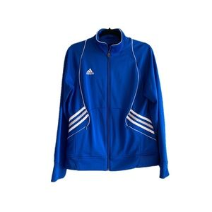 Adidas Team clima control blue and white jacket